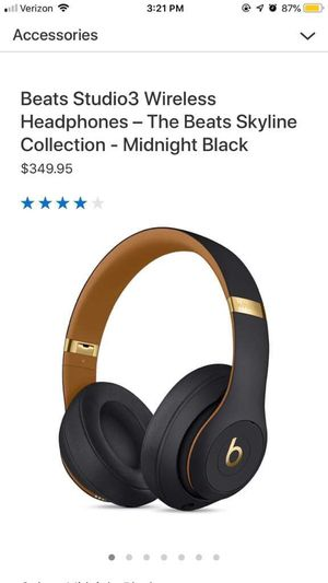 Beats Studio3 Bluetooth Wireless Over-Ear Headphones with Mic - Noise-Canceling - Midnight Black for Sale in Alexandria, VA