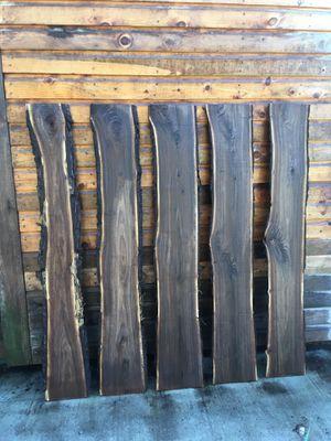 5pc Black Walnut Live Edge Slabs (bw21) for Sale in Bethel, PA