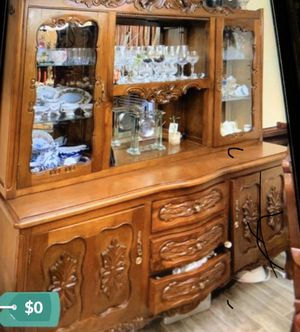 Wood Antique China cabinet make offer for Sale in Miami, FL