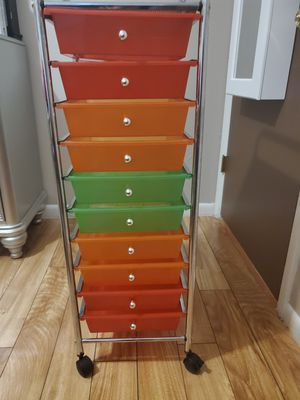 Plastic drawer and metal holder for Sale in Westminster, CO