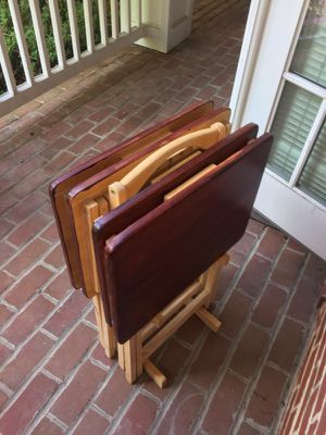 4 wood TV Tables Restored for Sale in Alexandria, VA