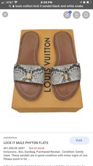 LOCK IT LOUIS VUITTON PHYTON FLATS SZ. 7.5 for Sale in Long Beach, CA