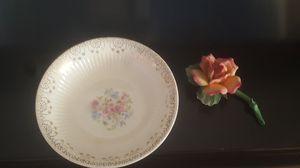 """Vintage 22k Gold leaf 8"""" Bowl, and Delicate Ceramic Rose, $15 for Sale in Riverside, CA"""