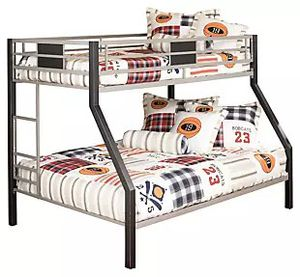 Metal bunk bed, twin over full for Sale in Gilbert, AZ