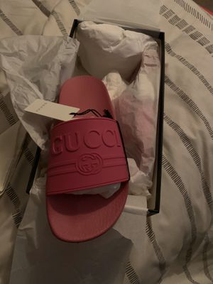 Gucci pink rubber slides for Sale in Raleigh, NC