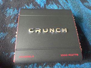 New crunch 1000 watt 4 channel for Sale in Oakland, CA