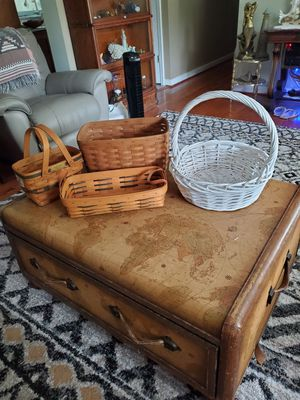 Three longaberger baskets and one white basket for Sale in Saint Charles, MO