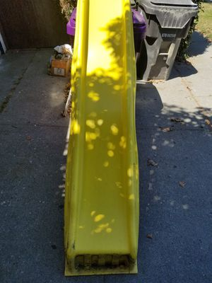 $25 Children's slide (Swing-N-Slide). 4 1/2' drop(you can vary accordingly). No cracks, slightly dirty, a dog bite or two, easily remedied. for Sale in Long Beach, CA