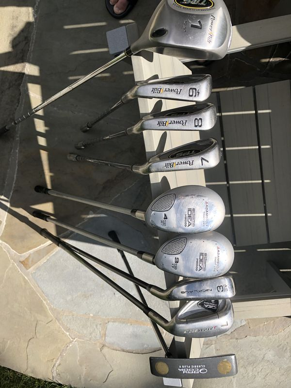 Assorted Golf Clubs (TPL Adams Ray Cook Nicklaus)
