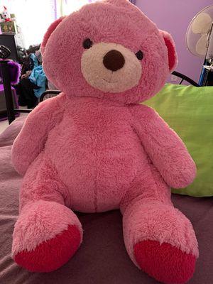 Pink stuffed teddy bear for Sale in Suffolk, VA