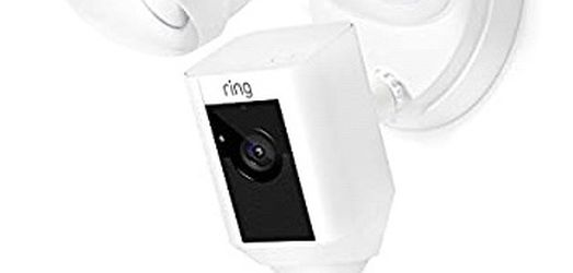 Ring Floodlight Camera Motion-Activated HD Security Cam Two-Way Talk and Siren Alarm - White for Sale in Addison,  TX
