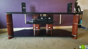 Glass/Wood Entertainment Center for Sale in Greenwood, IN