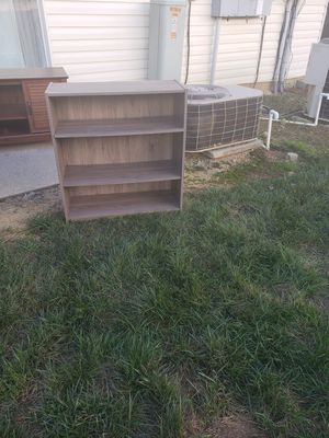 50.00 grey bookshelve for Sale in Raleigh, NC