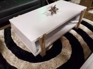 Pear Coffee/Center Table, White and Dark Taupe for Sale in Fountain Valley, CA