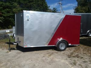 New 7x12 Enclosed Cargo Trailer Loaded for Sale in Enfield, CT