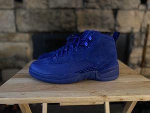 🔌🔌 JORDAN RETRO 12 BLUE SUEDE SIZE 12 🔌🔌 💰 300 💰 for Sale in Denver, CO