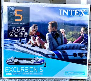 Intex Inflatable Boat Excursion 5 for Sale in Walnut Creek, CA