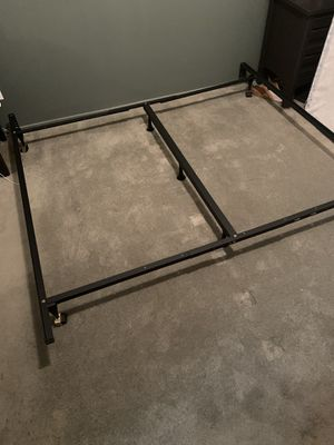 Eastern king metal bed frame for Sale in Riverside, CA