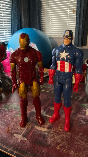 Iron Man And Captain America Figures for Sale in Brentwood, NC
