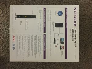 Netgear High Speed Cable Modem # CM500 for Sale in Moreno Valley, CA