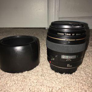 Canon 85 mm F1.8 Lens for Sale in Herndon, VA