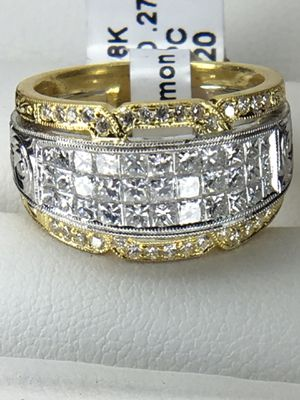 """SIMON G"" DIAMOND RING SET IN 18KT GOLD & PLATINUM for Sale in Brentwood, CA"