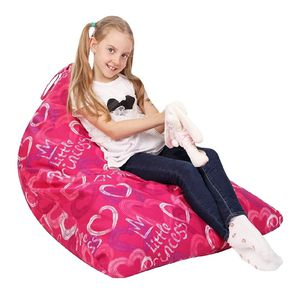 Stuffed Animal Storage Bean Bag - Cover Only - Large Triangle Beanbag Chair for Kids for Sale in Charlotte, NC