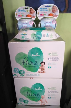 2 boxes Pampers Pure bundle for Sale in Philadelphia, PA