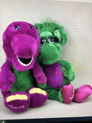 "Barney and Baby Bop 8"" Plush for Sale in San Antonio, TX"