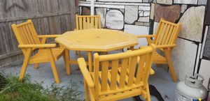 Wood table and chairs in good condition is for free any one just let me know .thanks for Sale in Warwick, RI