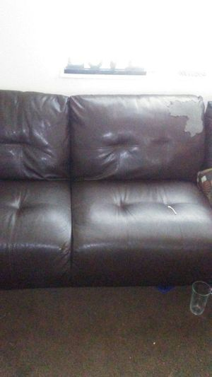 Sectional Leather Couch $75 for Sale in Nashville, TN