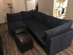 Sectional Couch with a ottoman for Sale in Beaverton, OR