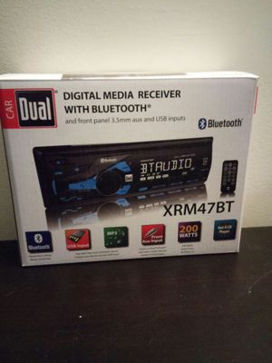 Dual Electronics Single Din Am/FM Receiver and Bluetooth for Sale in McKees Rocks, PA