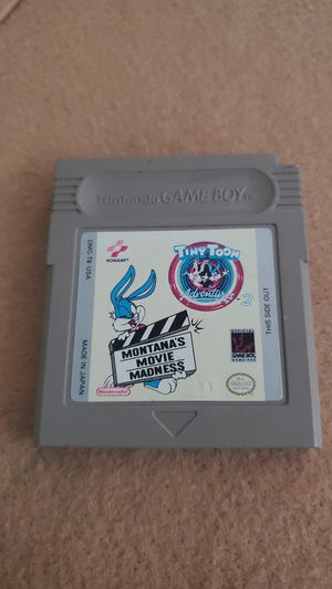 Nintendo Game Boy Tiny Toons Adventures 2 Montana's Movie Madness for Sale in Henderson, NV