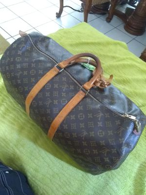 BEAUTIFUL AND ORIGINAL!! LOUIS VUITTON KEEPALL 55 MONOGRAM LEATHER WEEKEND/TRAVEL BAG for Sale in Corona, CA