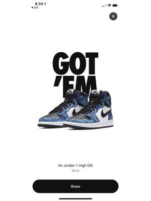 Nike Air Jordan 1 Tie-Dye W7/M5.5 for Sale in Tustin, CA