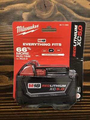 Milwaukee M18 XC 5.0 Battery for Sale in Fairfield, CT