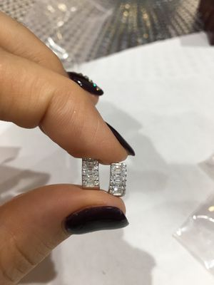 Sterling sliver dipped in white gold Earings for Sale in Queens, NY