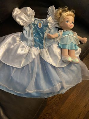 Cinderella costume/dress up and doll for Sale in Long Beach, CA