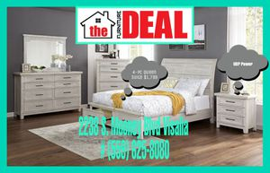 4-PC Platform/Queen Bedroom Suite King Sizes Available for Sale in Visalia, CA