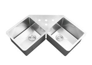 "BRAND NEW Ruvati RVH8400 Undermount Corner Kitchen Sink 16 Gauge 44"" Double Bowl, Stainless Steel for Sale in Rockville, MD"