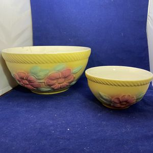 Vintage Unmarked Yellow Flower Decorative Bowls for Sale in Morrisville, PA