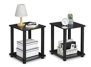 2 New!! Furinno Simplistic End Table, Americano/Black for Sale in Houston, TX