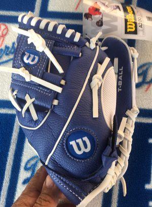 Wilson T-Ball baseball glove - BLUE White DODGER BLUE baseball Glove for Sale in South Gate, CA