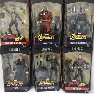 Marvel legends series BAF Wasp malekith black knight thor black widow Antman set for Sale in San Fernando, CA