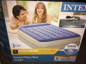 Queen air mattress air bed great condition !! for Sale in Atlanta, GA