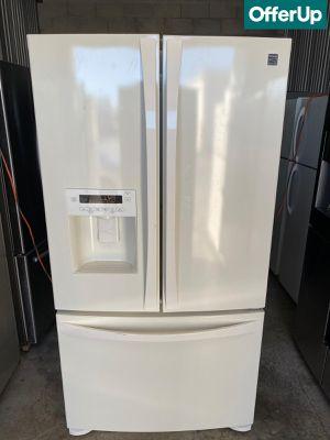 French Door 3-Door Kenmore Refrigerator Fridge White #1262 for Sale in Orlando, FL