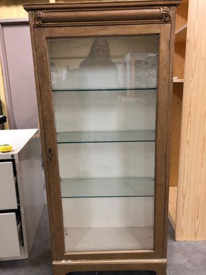 Nice wooden display cabinet for Sale in Fort Worth, TX