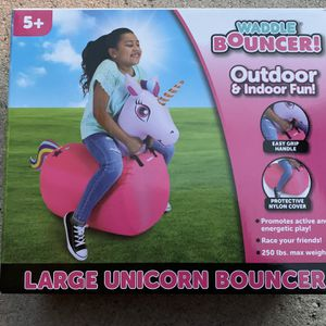 Waddle Bouncer - Large unicorn Inflateable Bounce Toy - Brand New - Holds Up To 250lbs Of Weight for Sale in Fort Lauderdale, FL