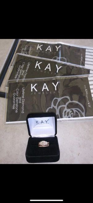 Rose gold engagement and wedding ring for Sale in Peoria, AZ